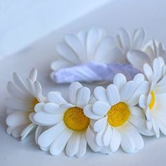Фото мастер-класс по цветам из фоамирана: Ромашка