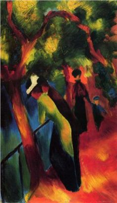 AUGUST MACKE  Sunny Way (1913). Professional Artist is the foremost business magazine for visual artists. Visit ProfessionalArtistMag.com.- www.professionalartistmag.com