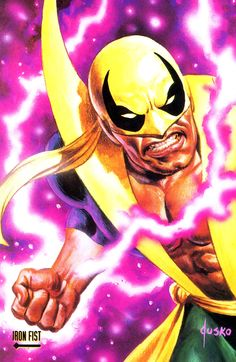 Iron Fist by Joe Jusko Marvel Comics Art, Marvel Heroes, Marvel Comic Character, Marvel Characters, Comic Books Art, Comic Art, Iron Fist Marvel, Marvel Cards, Heroes Reborn
