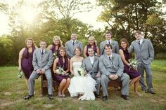 Put on different purple dress, take off the groomsmen's jackets and you have my wedding :)