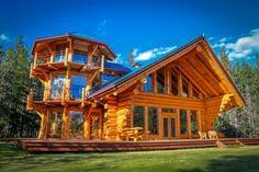 Tower House Exterior: Rustic Lakeside Estate in Chilko, British Columbia, Canada