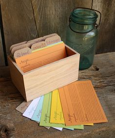 Look at this #zulilyfind! Open Recipe Box & Card Set #zulilyfinds