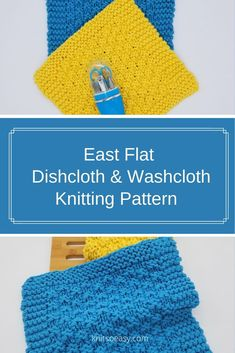 East Flat is dishcloth and washcloth pattern that has everything you  look for in a dishcloth/washcloth pattern…great texture, fun and quick &  easy to make.   #knitsoeasy #knitted washcloth pattern #knit #DIY #knitting pattern  #knitted dishcloth pattern