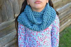 Childrens Crochet Infinity Cowl Scarf Kids Dusty by FarahsAttic, $12.00