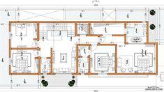 Family House Plans, Dream House Plans, Modern House Plans, Square House Plans, Duplex Plans, Architectural Design House Plans, Duplex House Design, House Map, Villa Design