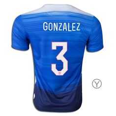 2015 Omar Gonzalez Youth Away Jersey #3 USA Soccer