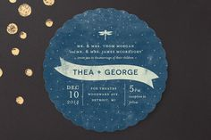 Twinkle Wedding Invitations by Snow and Ivy at minted.com