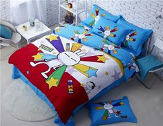 Tuzki Rabbit Emoticon Bedding Cheap Comforter Sets