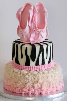 Ballet Sweet 16 Cake.  Lauraloucakes.com