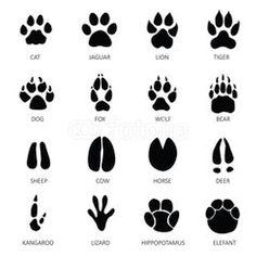 Native American symbols and patterns, Original illustrations Wolf Paw Tattoos, Footprint Tattoo, Cat Footprint, Elephant Footprint, Animal Footprints, Animal Tracks, Cat Paws, Free Vector Art, Vector Graphics