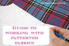 How to sew with patterned fabrics