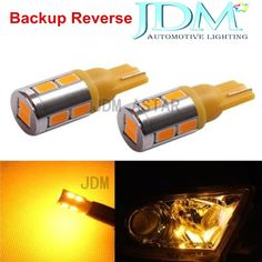 JDM ASTAR 2x Bright T10 Wedge 12V LED Amber 5730 SMD Backup Reverse 921 912 194 #JDMASTAR