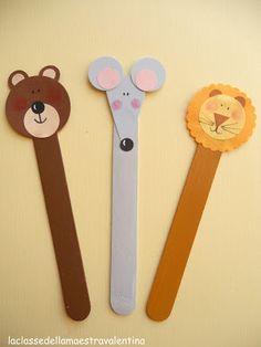 A bookmark or. Crafts For Seniors, Fun Crafts For Kids, Craft Activities For Kids, Toddler Crafts, Diy For Kids, Popsicle Stick Crafts, Craft Stick Crafts, Paper Crafts, Kindergarten Crafts