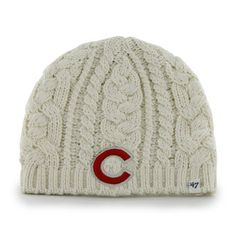 Chicago Cubs '47 Women's Shawnee Knit Beanie - Natural