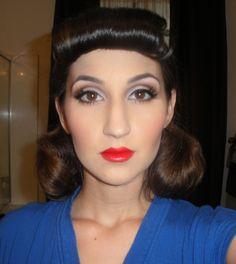 1950's Makeup 1950s Hair And Makeup, 1950 Makeup, Vintage Makeup, Makeup Art, Hair Makeup, Makeup Tips, Snow White Makeup, Halloween Makeup, Halloween 2014