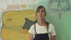 The painter Sabine Tress during work- Die Malerin Sabine Tress bei der Arbeit