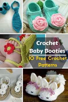 10 Stylish #Crochet Baby Booties #Pattern | DIY and Crafts