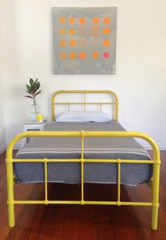 INDUSTRIAL metal single kids bed frame RETRO vintage hospital style SAO DESIGNS