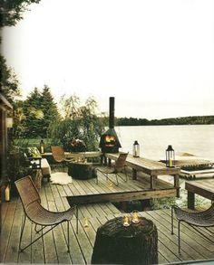 deck + dock / Tom Filicia's Lake House