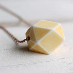Yellow Geometric Necklace   Lemon Sorbet by SilkPurseSowsEar