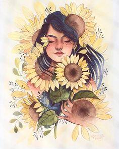 """297 curtidas, 1 comentários - Irmandade Psicodélica ॐ (@irmandade_psicodelica) no Instagram: """"Seja flor onde for! Art by: @julianarabelo.art"""""""