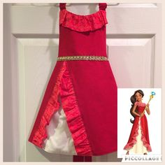 wp automatic <img> Elena of Avalor Inspired Apron by LittleNuggetCreation on Etsy - Dress Up Aprons, Diy Dress, Sewing Kids Clothes, Sewing For Kids, Disney Aprons, Princess Aprons, Robe Diy, Dress Up Storage, Nice Dresses