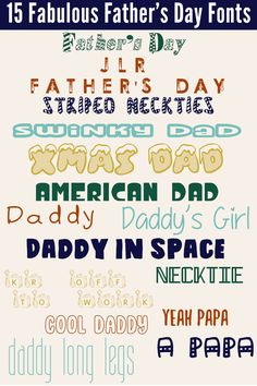 15 Fabulous Father's Day Fonts