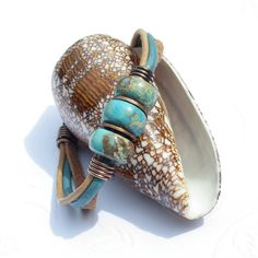 DESTASH SALE Leather bracelet jasper bead by THEAjewellery