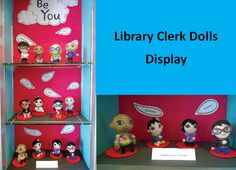 Needed felted dolls of real clerical staff @ Rondo Library.