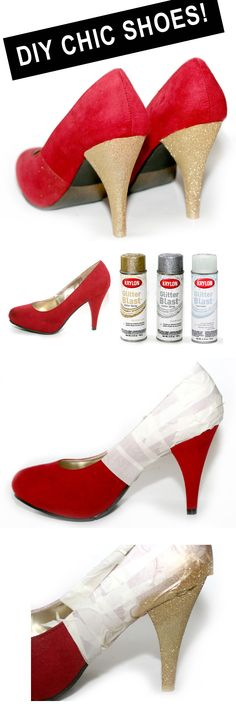 #DIY chic shoes. ugg heels but good idea to refresh your fave old pair.