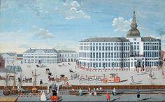 Københavns Slot ca. 1720, malet af Johan Jacob. Brunn ca. 1750