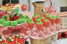 Little Big Company | The Blog: Strawberry Shortcake Party by Miss Deliciouza- Candy Buffet Artist