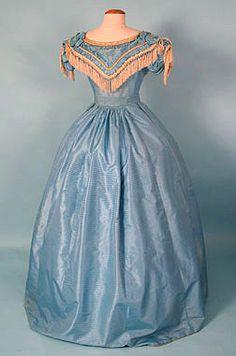 Sky Blue Ballgown, 19th c  http://whitakerauction.smugmug.com/Fall2003/October-2003-Sale/16728076_WQ9sV6#!i=1261776109=KfXjPPw=1=A