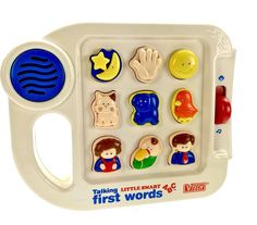 Vtech Talking Little Smart First Words abc 1993 electronic learning vintage toy Vintage Toys, Mugs, Learning, Words, Tableware, Ebay, Old Fashioned Toys, Dinnerware, Tumbler