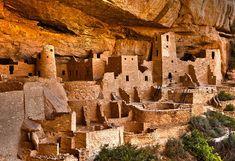 Cliff Palace - Mesa Verde Anasazi Ruins, Montezuma County, Colorado, USA