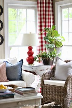 Savvy Southern Style: Spring In The Sun Room