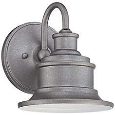 "Quoizel Seaford 8 1/2"" High Galvanized Outdoor Wall Light"