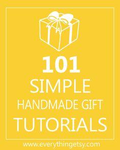 DIY Gifts - 101 Simple Handmade Gift Tutorials - EverythingEtsy.com