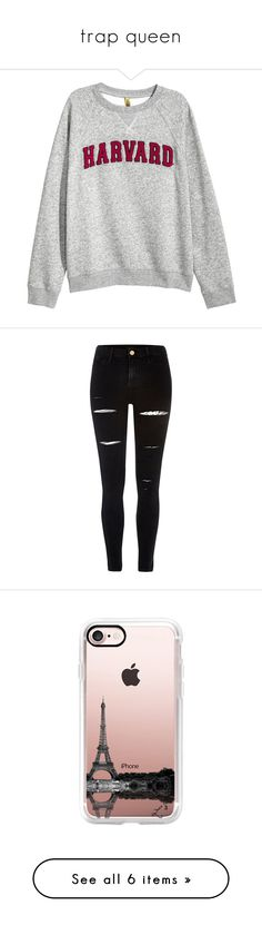 """""""trap queen"""" by supapeach-662 ❤ liked on Polyvore featuring tops, hoodies, sweatshirts, sweaters, shirts, jackets, shirt tops, pants, bottoms and jeans"""