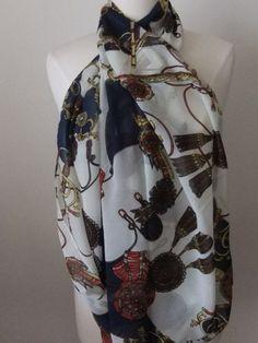 Womans scarf elegant print Infinity Scarf by HappyHeartStore