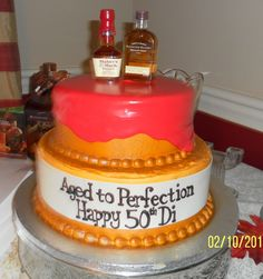 Woodford reserve 50th birthday cake.  Bourbon themed from Caramandas in Lexington Ky  #makersmark #woodfordreserve #50thbirthday