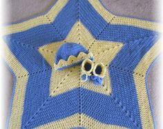 PDF Crochet Pattern Ribbon & Lace Thread Baby by BellaCrochet