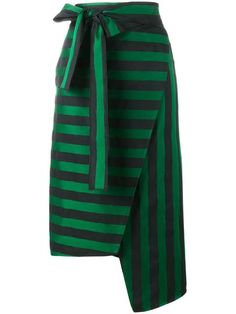 Rochas полосатая асимметричная юбка