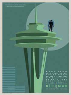 """Birdman"" Goes Coast To Coast In Gorgeous Posters For Alejandro González Iñárritu's Genre-Defying New Film Classic Movie Posters, Minimal Movie Posters, Classic Films, Film Posters, Comic Book Superheroes, Comic Book Heroes, Oscar Winning Films, Film Images, Event Photos"