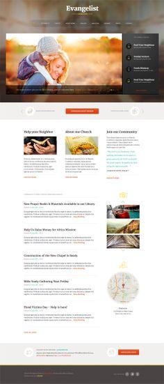 Evangelist - Church WordPress Theme #wpthemes #flatdesign #responsivedesign #wordpressthemes