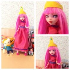 monster high custom doll  ooak monster thesleepyforest keberneteka cute kawaii repaint draculaura adventure time princess bubblegum