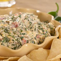 Mexican Spinach & Cheese Dip - perfect for your Cinco de Mayo party!