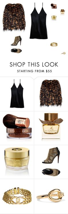 """""""fierce"""" by leafmarie ❤ liked on Polyvore featuring Fleur du Mal, Dries Van Noten, Vita Liberata, Burberry, Oribe, Carrano, Chanel and Elizabeth and James"""