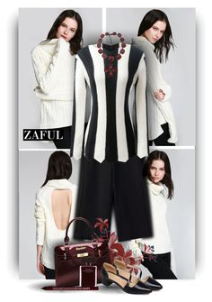 """""""Black and white Style with Zaful Fashion"""" by christiana40 ❤ liked on Polyvore featuring Tom Ford, Narciso Rodriguez, NYX, women's clothing, women's fashion, women, female, woman, misses and juniors"""