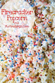Firecracker Popcorn for the Fourth of July